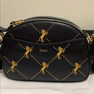 CHLOE  Embroidered Little Horses Shoulder Bag